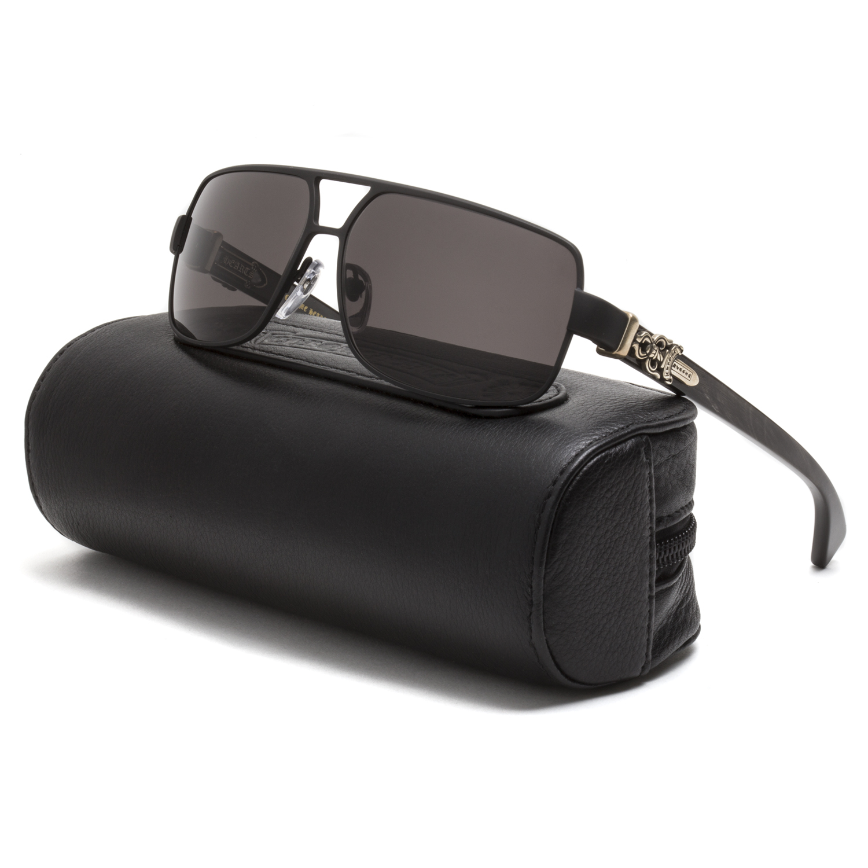 Chrome Hearts Tank Slapper Sunglasses Matte Black Shadow Buffalo ...
