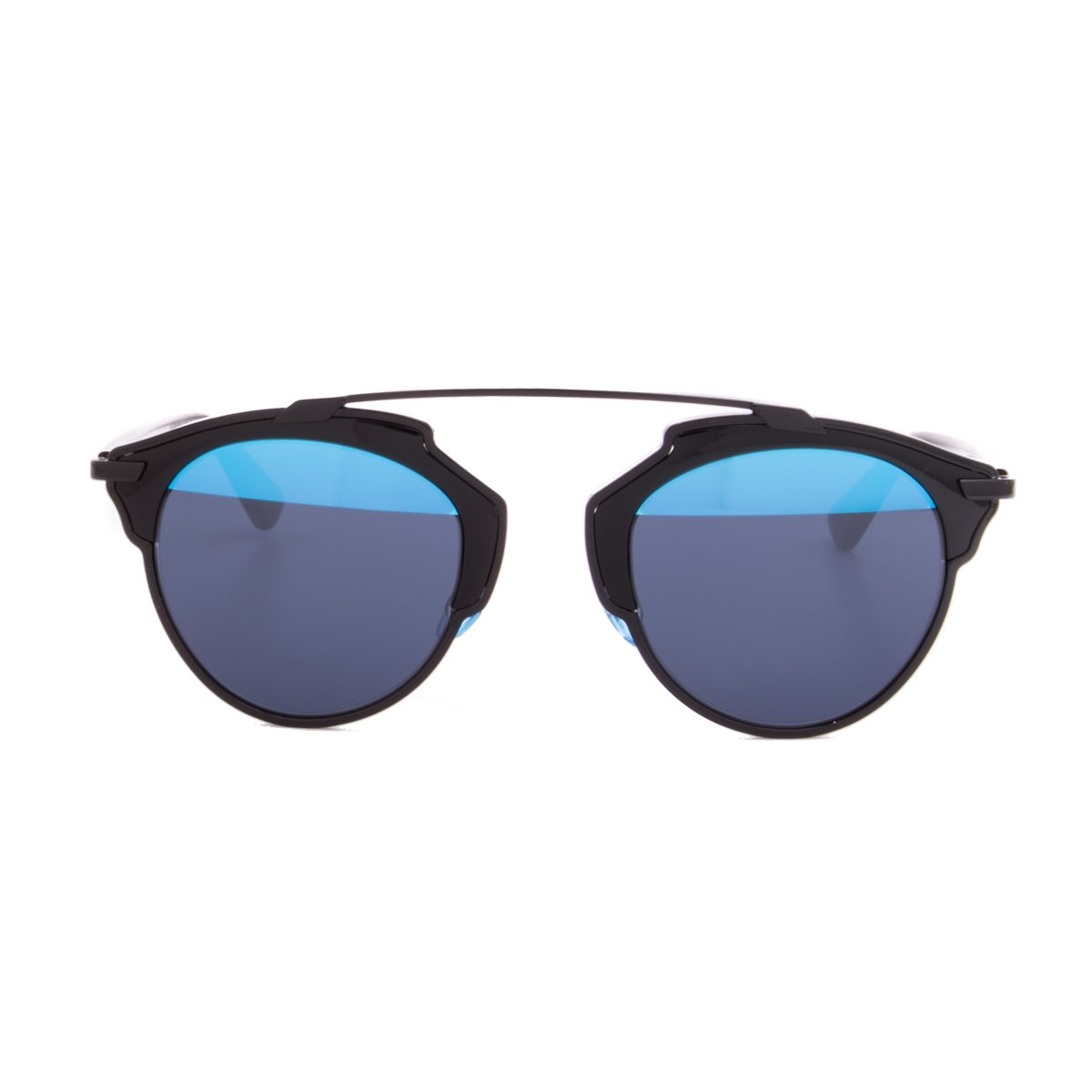 b5a9b96d6d8 Christian Dior Sunglasses Dior So Real B0YY0 Black Frame   Blue Mirrored  Lens