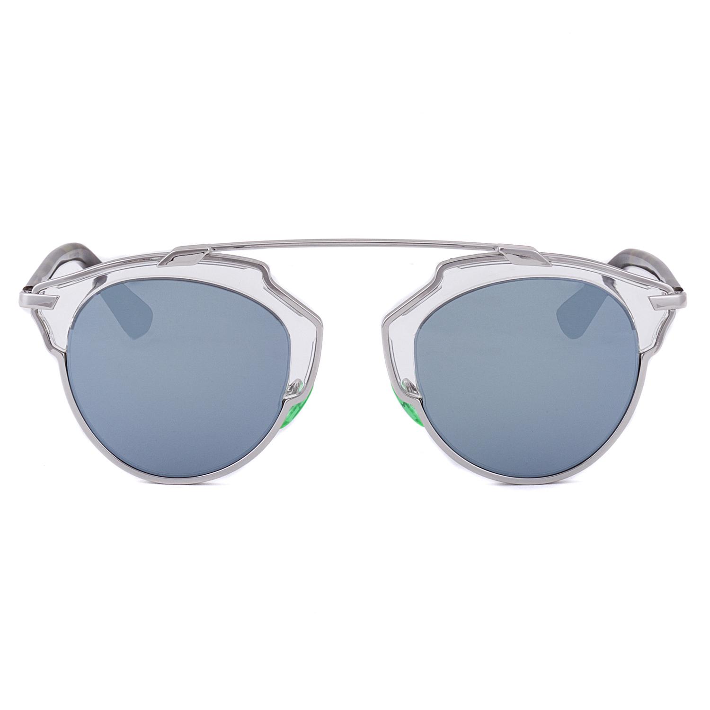 28cb75701338 Dior So Real Aviator Sunglasses NSYT7 Palladium Crystal Havana Green   Grey  w  Blue Mirror Lens