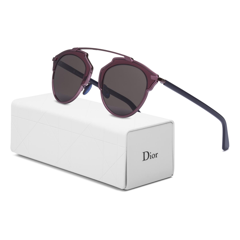 77cbd306859 Dior So Real Aviator Sunglasses NSZL3 Plum Burgundy w  Blue Frame   Brown  Lenses