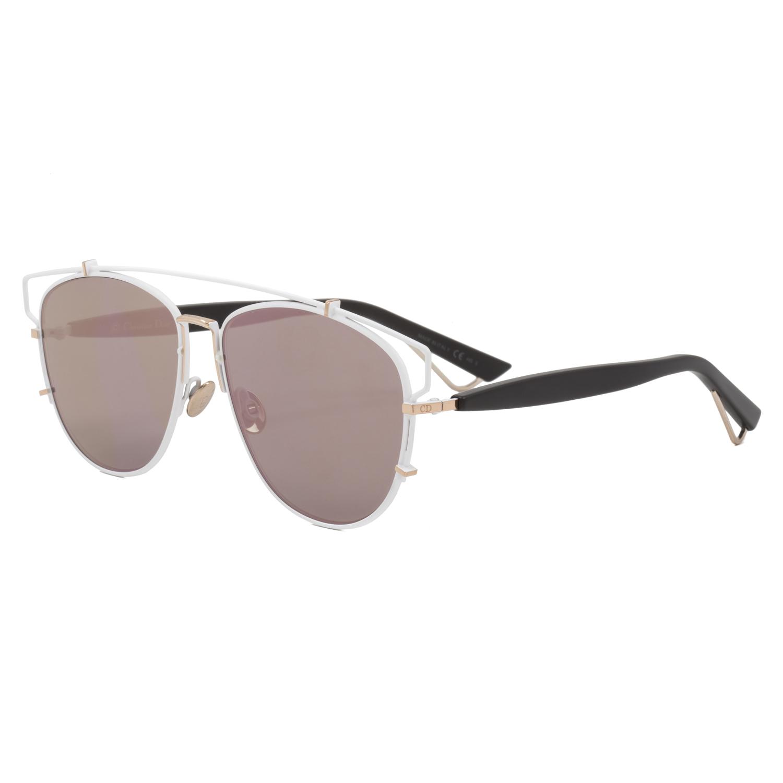 7a484330b50 Dior Technologic Sunglasses XG9AP White Gold Black   Green Pink Rose  Mirrored