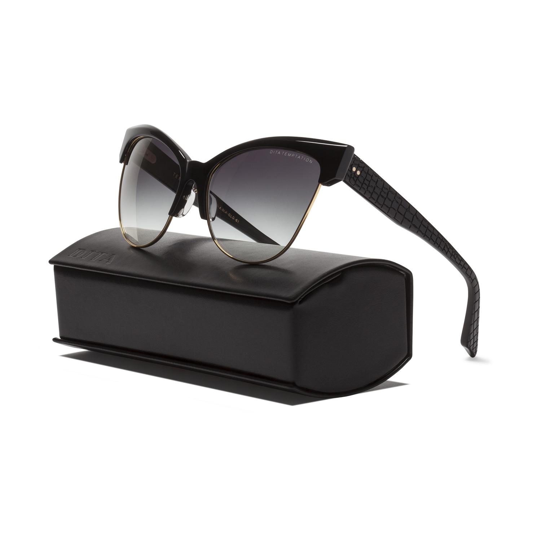 70ec290f6147 Dita Temptation Sunglasses 22029A Black Gold   Dark Grey Gradient ...