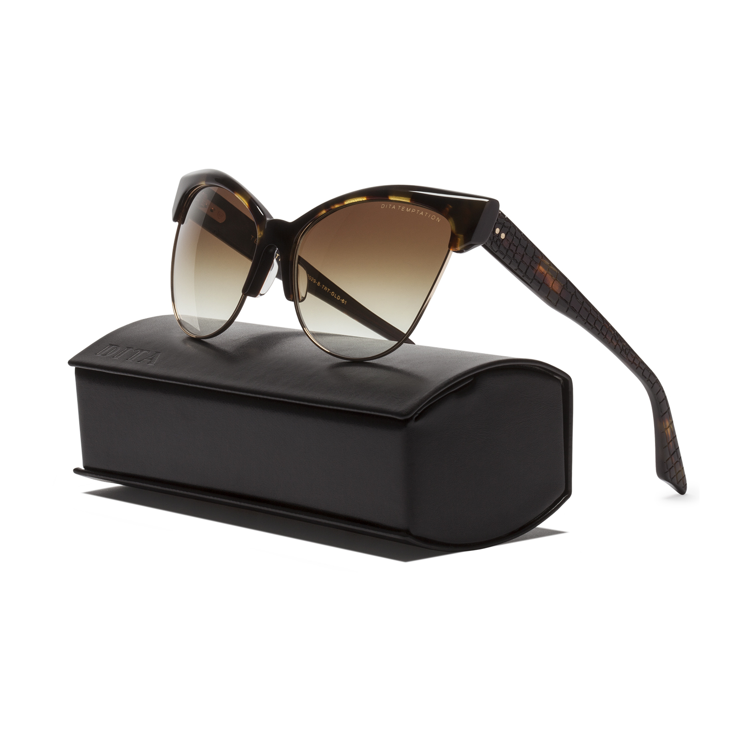 02fcb83e1de Details about NEW Dita Temptation Sunglasses 22029B Tortoise Burnt Brown  12K Gold   Brown Gold