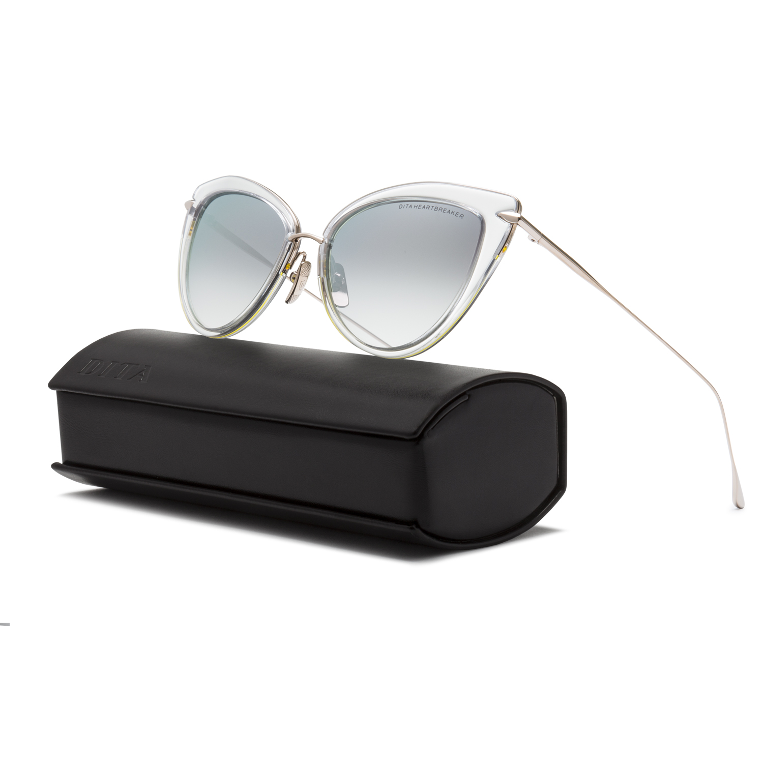 fa4294fab41 Dita Heartbreaker Sunglasses 22027E Clear 12K Gold   Grey Gradient ...