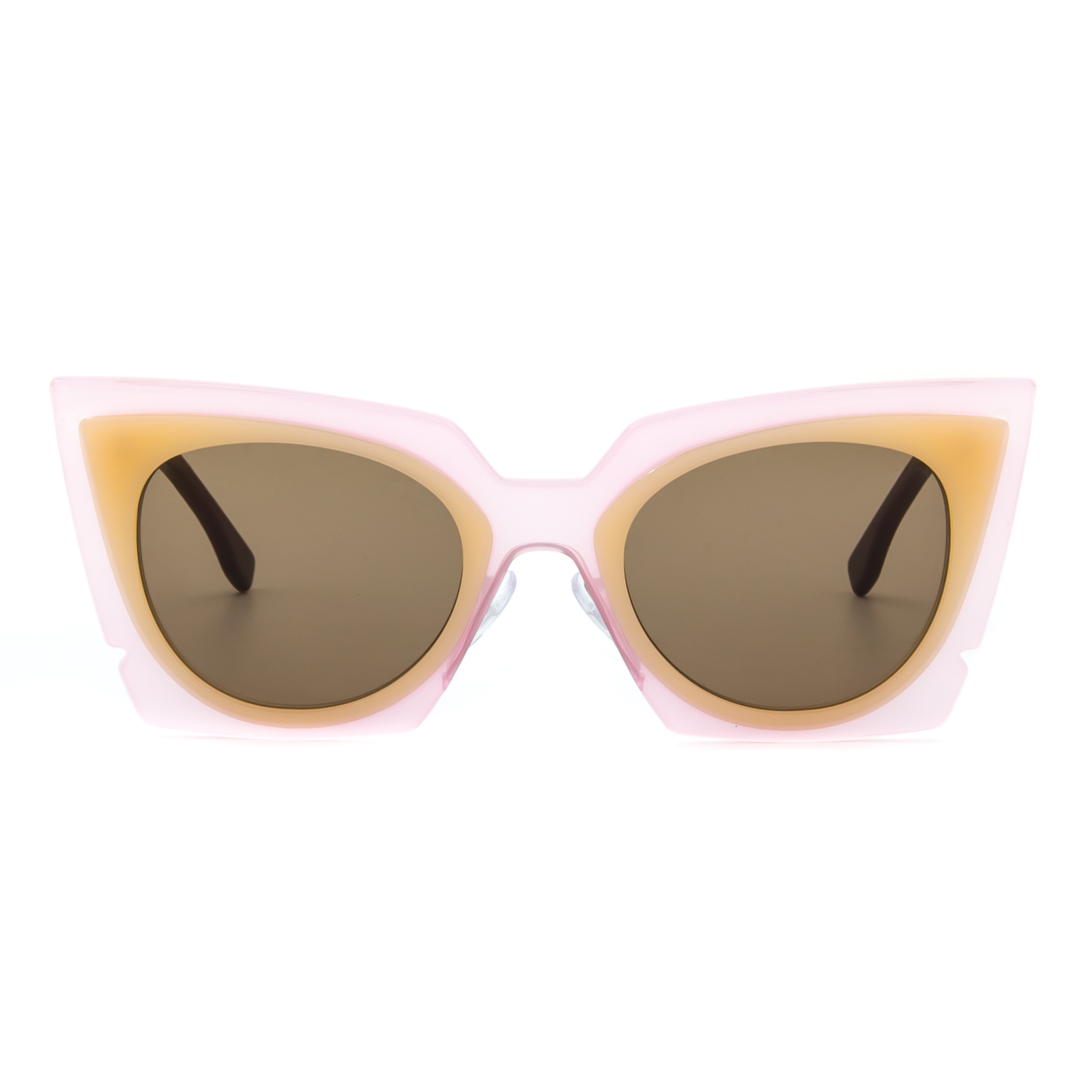 90b2d2b0a2 Fendi 0117 S Orchid Cat Eye Sunglasses LAQUT Pink   Peach   Tobacco Brown  Lenses