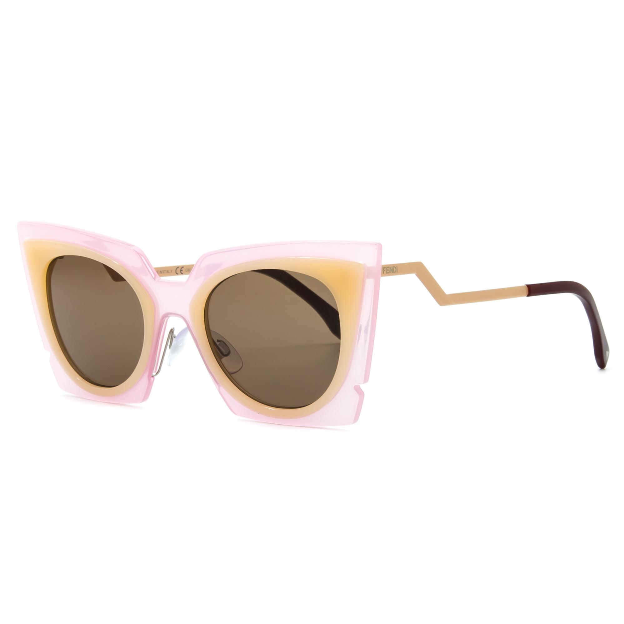 33f0e5912cb Fendi 0117 S Orchid Cat Eye Sunglasses LAQUT Pink   Peach   Tobacco Brown  Lenses FENDI Cat Eye Paradeyes Sunglasses FF 0136 S ...