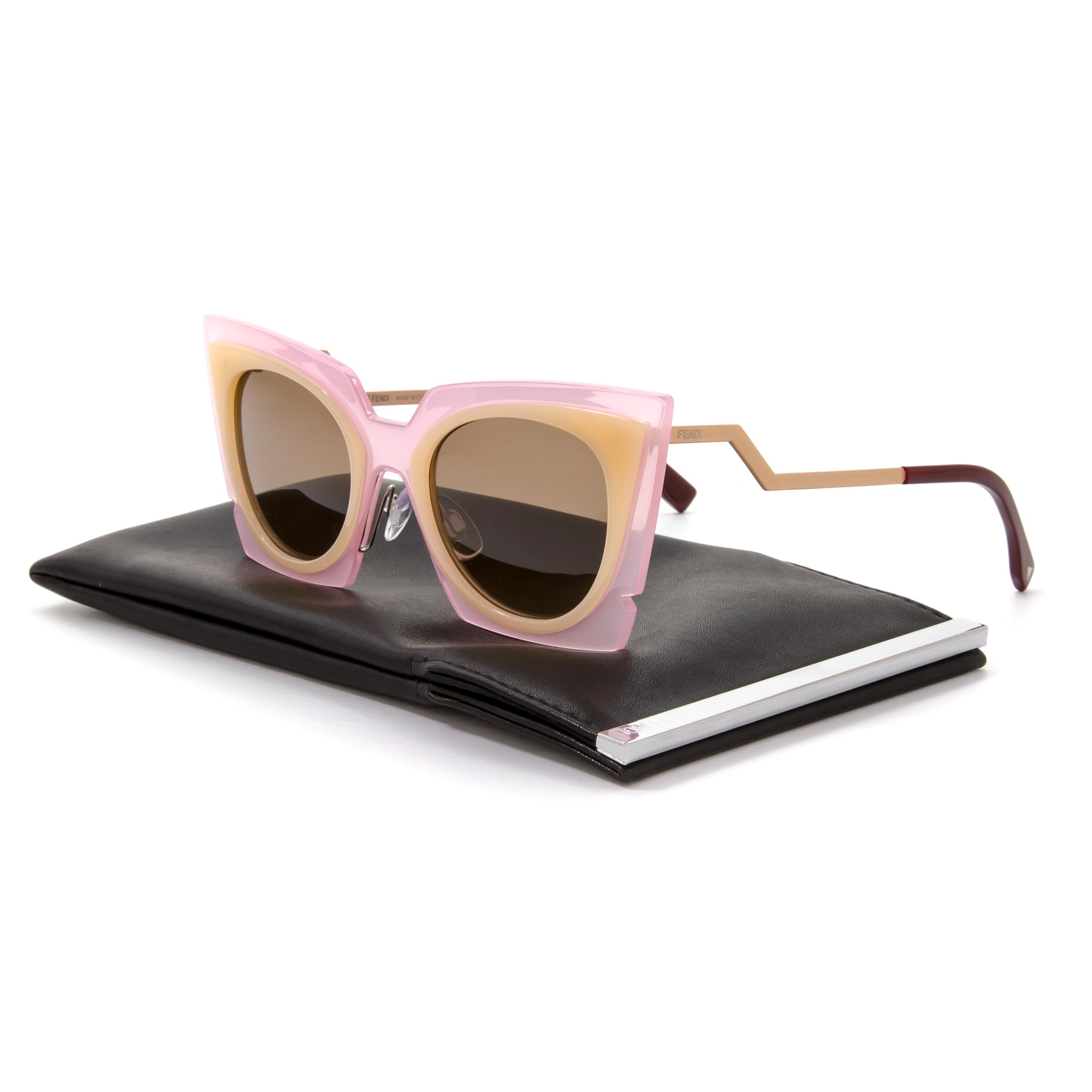 f7f2efb76a84 Fendi 0117 S Orchid Cat Eye Sunglasses LAQUT Pink   Peach   Tobacco ...