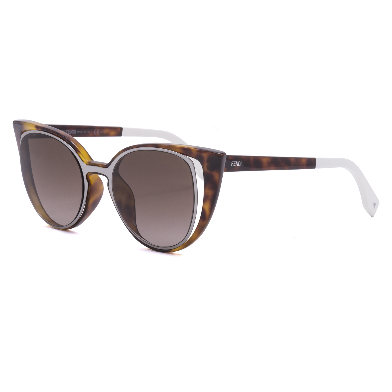 f09d68e54034 Fendi Paradeyes FF 0136 S Sunglasses NY2J6 Ruthenium Havana Frame   Brown  Lenses