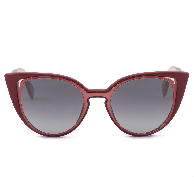 90792314c2fb Fendi FF 0136 S Cat Eye Sunglasses NZ1VK Prange   Red Frame   Grey Gradient  Lenses
