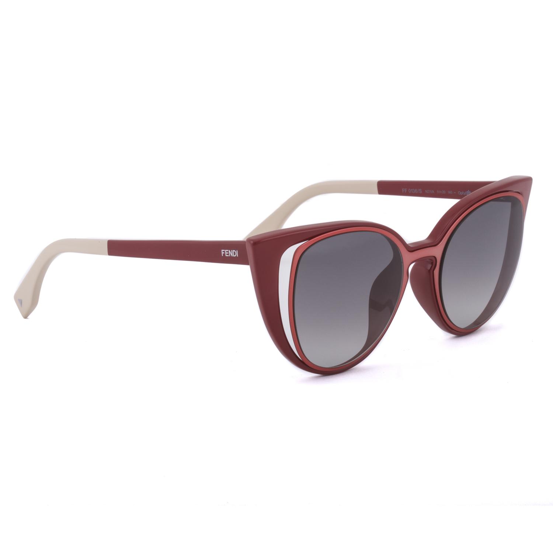 2a65582a2e1a Fendi FF 0136 S Cat Eye Sunglasses NZ1VK Prange   Red   Grey ...