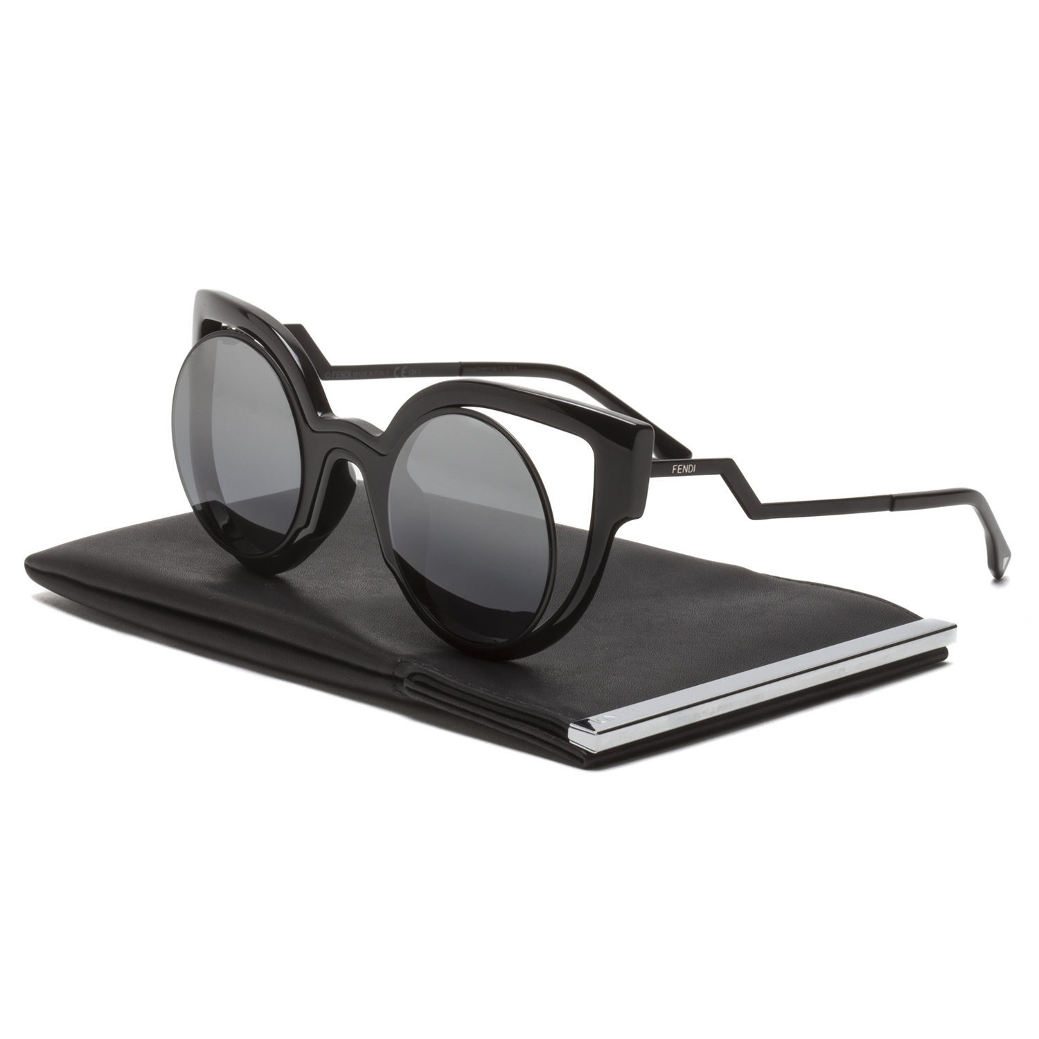 5aa0a1e240a0 Details about Fendi FF 0137 S Paradeyes Womens Sunglasses NT2CN Black Frame  Grey Mirrored Lens