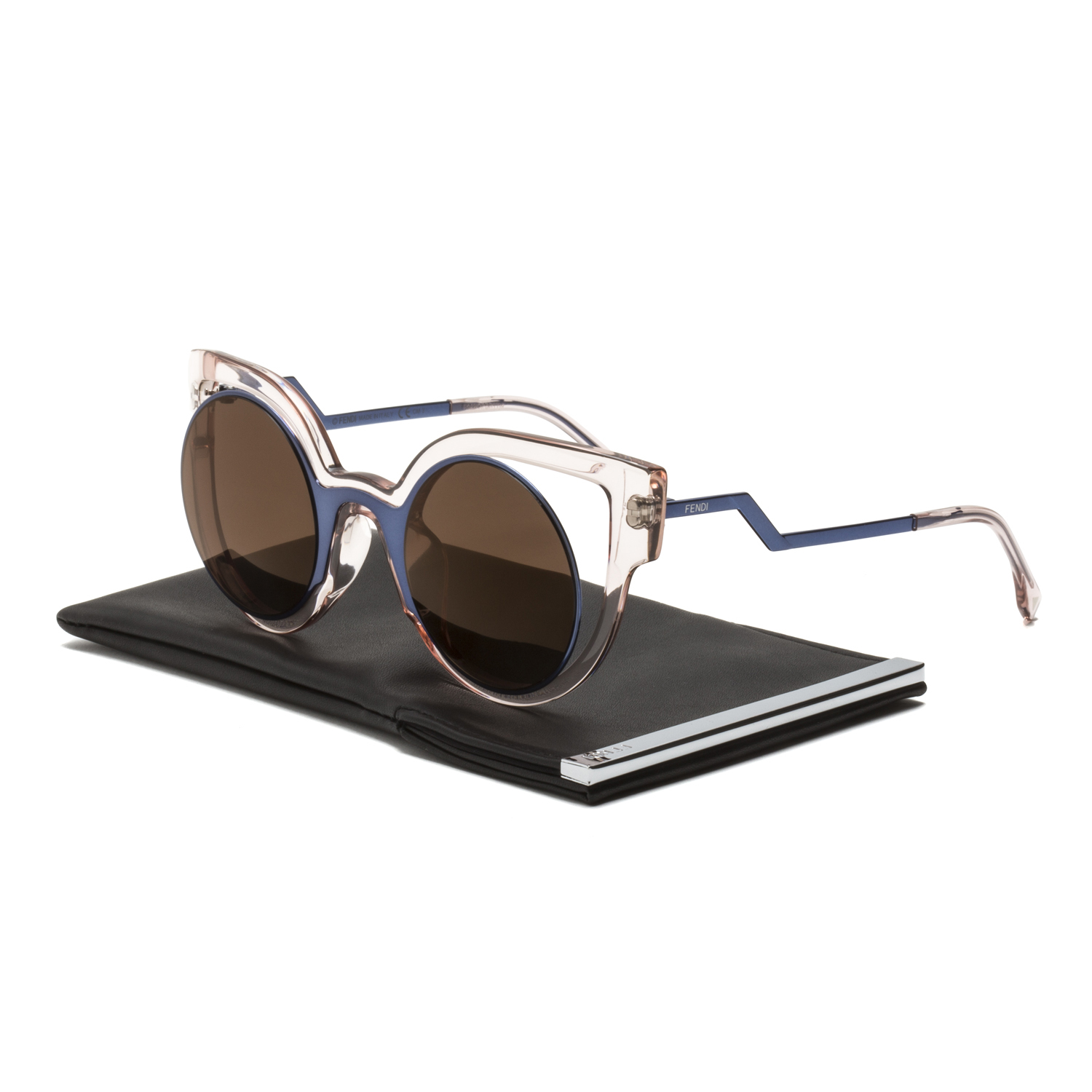 bd8d171909f2 Details about Fendi FF 0137 S Paradeyes Sunglasses NT7LC Blue Transparent Pink  Brown Mirrored