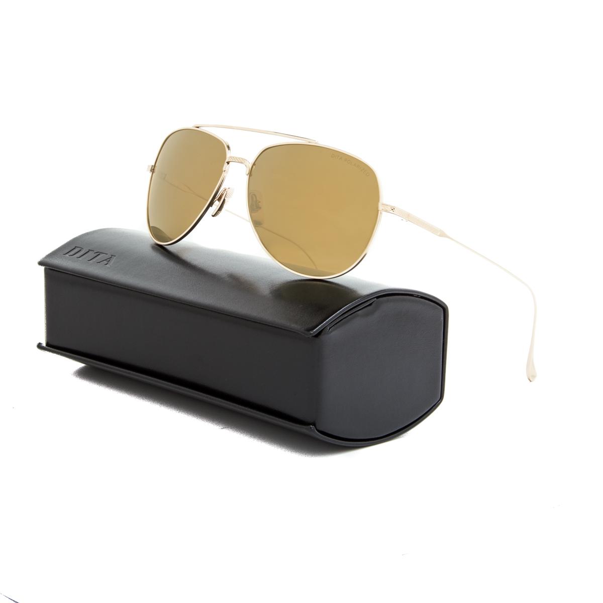 4fa96f2685 Details about Dita Flight 004 Sunglasses 7804 B P 12K Gold   Brown Gold  Flash Polarized AR