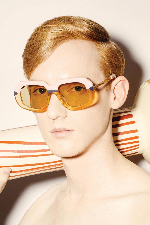 aa82fe70c255 Karen Walker Hollywood Creeper Womens Sunglasses Dusty Pink Crystal Peach  Gold