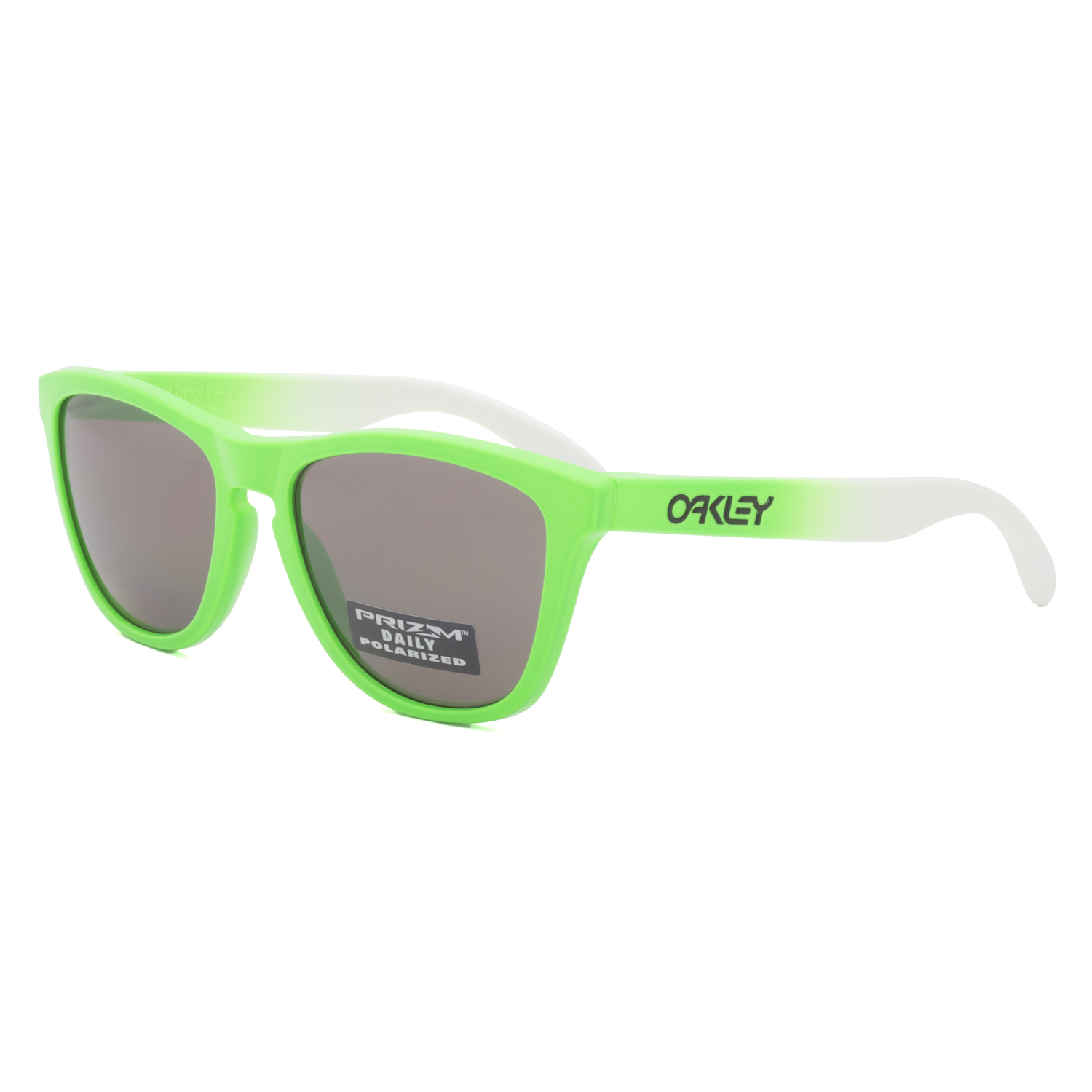 a6897680f75 Details about Oakley Frogskins Sunglasses OO9013-99 Green Fade   Prizm  Daily Polarized