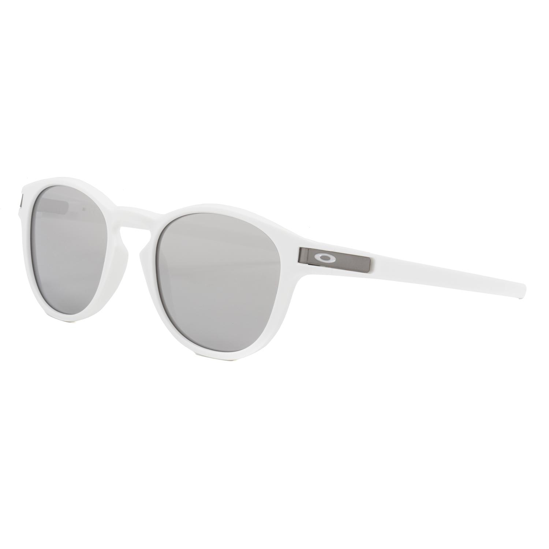 4853ff9f2e5 Oakley Latch Sunglasses OO9265-16 Matte White   Chrome Iridium Silver  Mirrored
