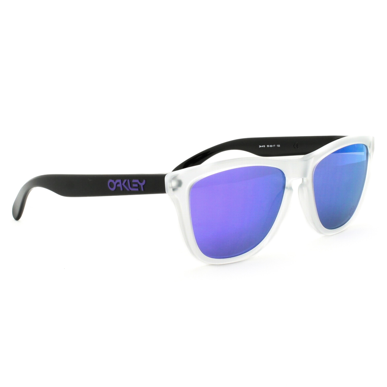 OAKLEY Heritage Frogskins Matte Clear / Violet Iridium 24-419 r8O6a