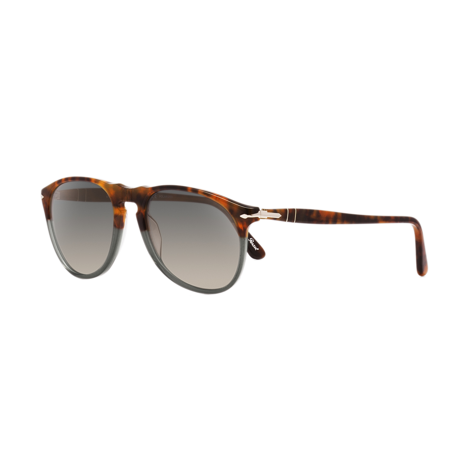 0262a89413 Details about Persol 9649 Aviator Sunglasses 1023 M3 Fuoco e Ardesia    Polar Grey Faded 52mm