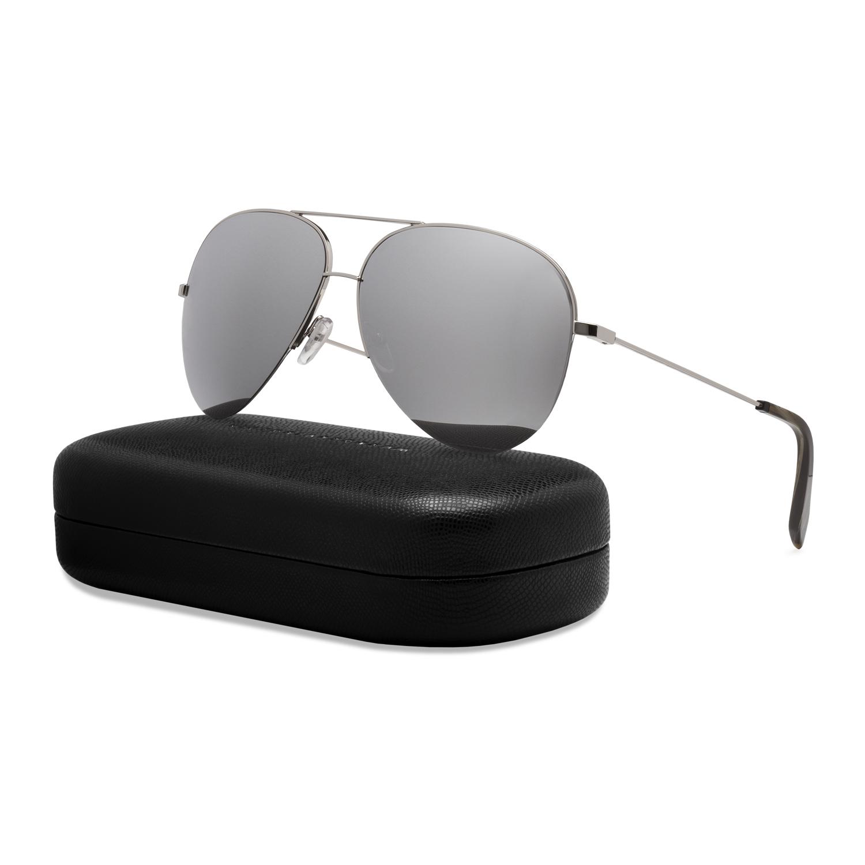 e516b68623e Details about Victoria Beckham VBS90 Classic Aviator Sunglasses C07 Silver    Platinum Mirrored