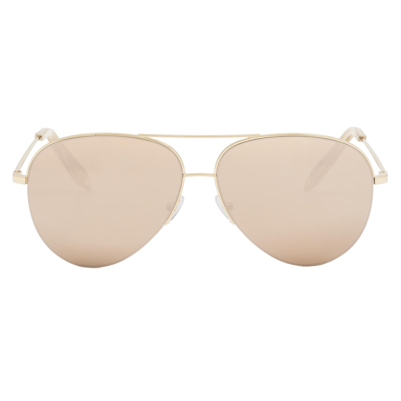 Gold Frame Mirrored Aviator Sunglasses : Victoria Beckham VBS90 Aviator Sunglasses C8 Gold Frame ...