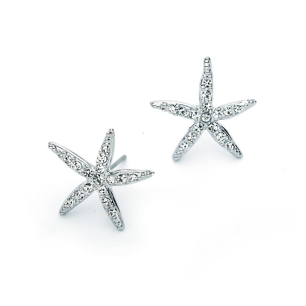 16e9b9409 MYJS Holly Starfish Earirings Stud with Swarovski Crystals Statement Star  WGP