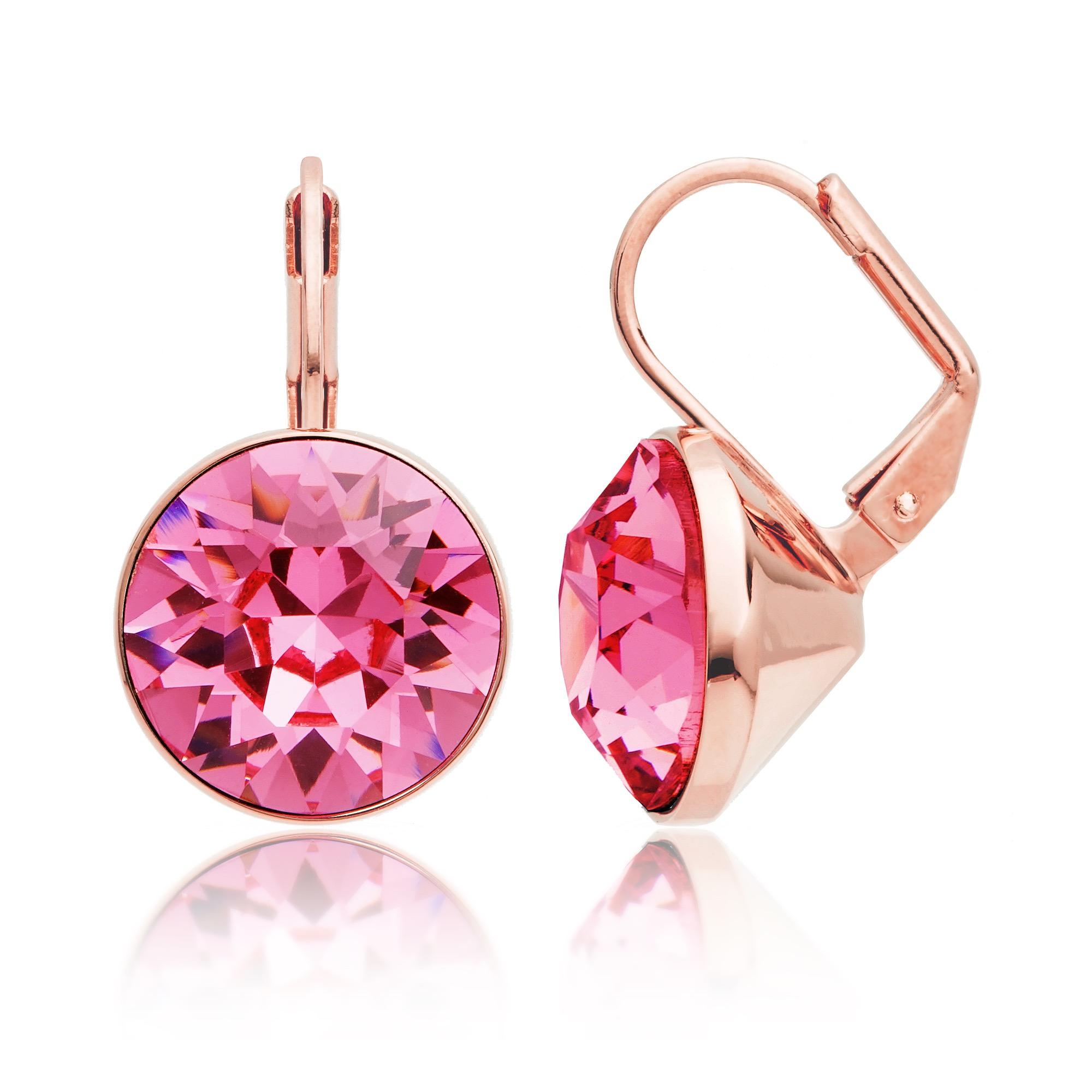 Bella Drop Earrings with Rose Swarovski Crystals Bridal Wedding RGP ...