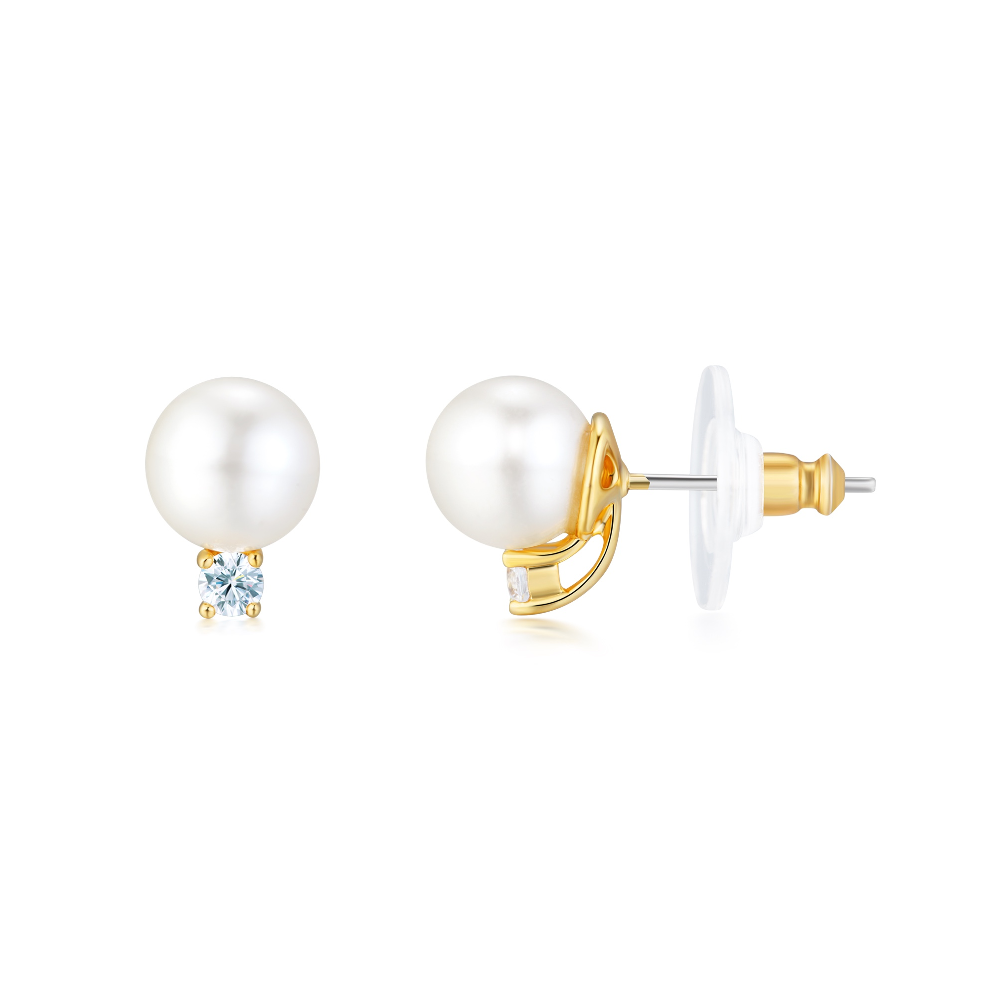 jewelry products and real infinity pearl co tiffany stud enlarged earrings