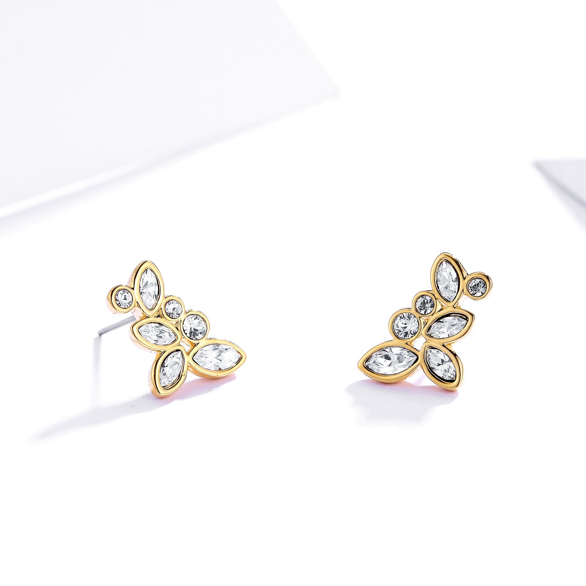 55fab1cf8299 Diapason Enchanted Stud Earrings with Swarovski Crystals 16k GP MYJS ...