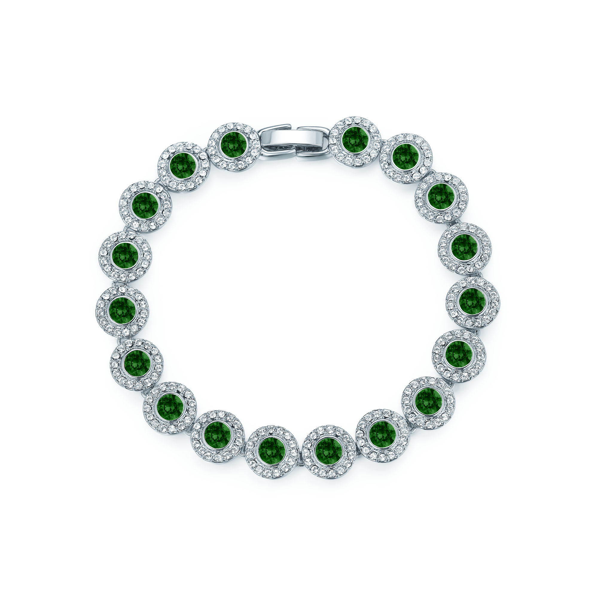 emerald bracelet baguette diamond