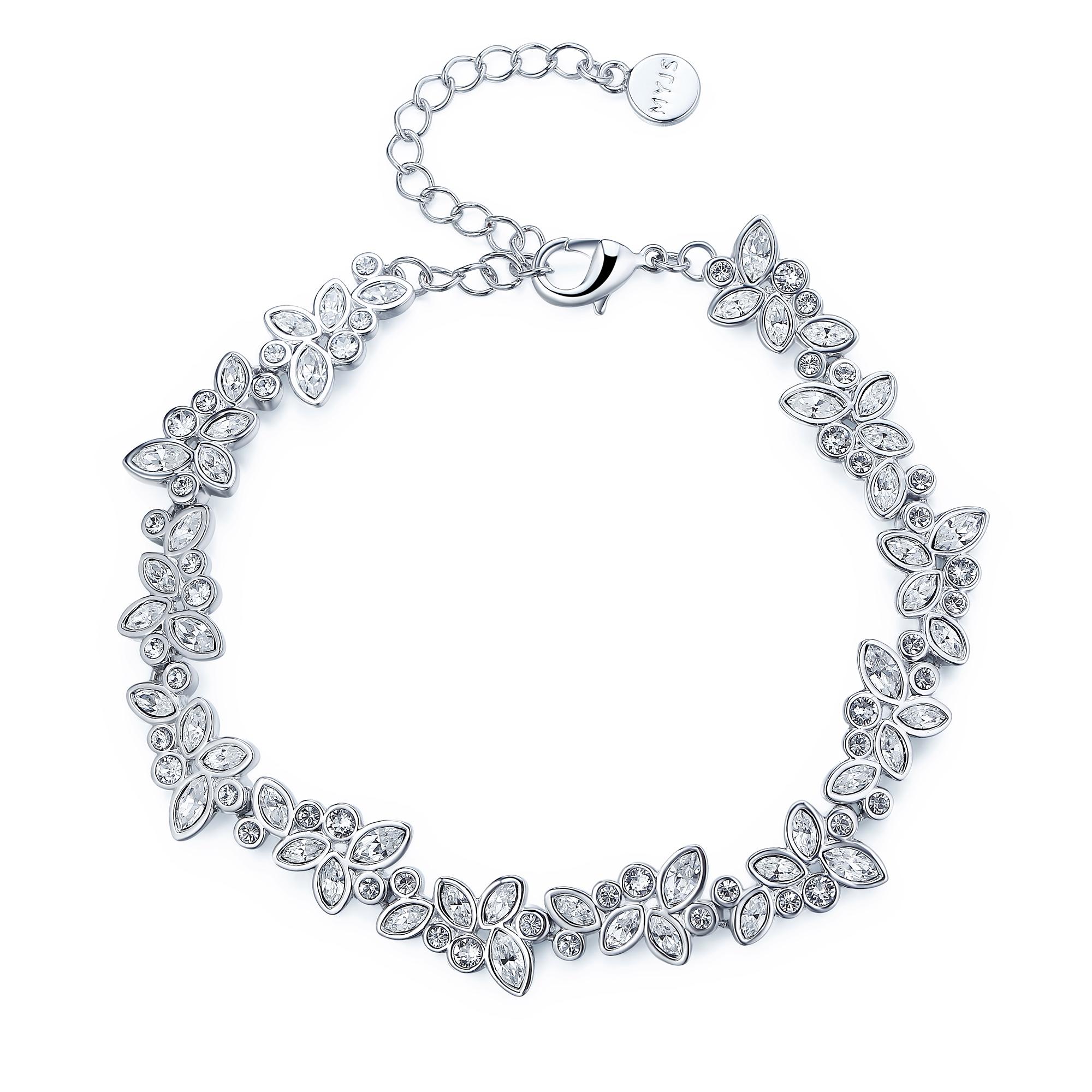 4622a6e6cb483 Details about Diapason Enchanted Bracelet with Swarovski Crystals WGP MYJS