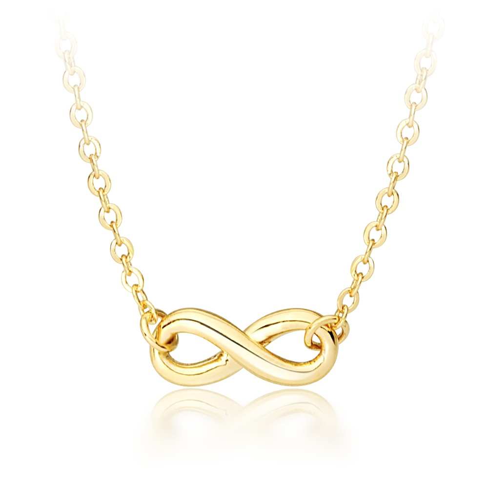 Infinitude Petite Love Infinity Necklace 18k Gold Plated Eternity Pendant f08204c415b1