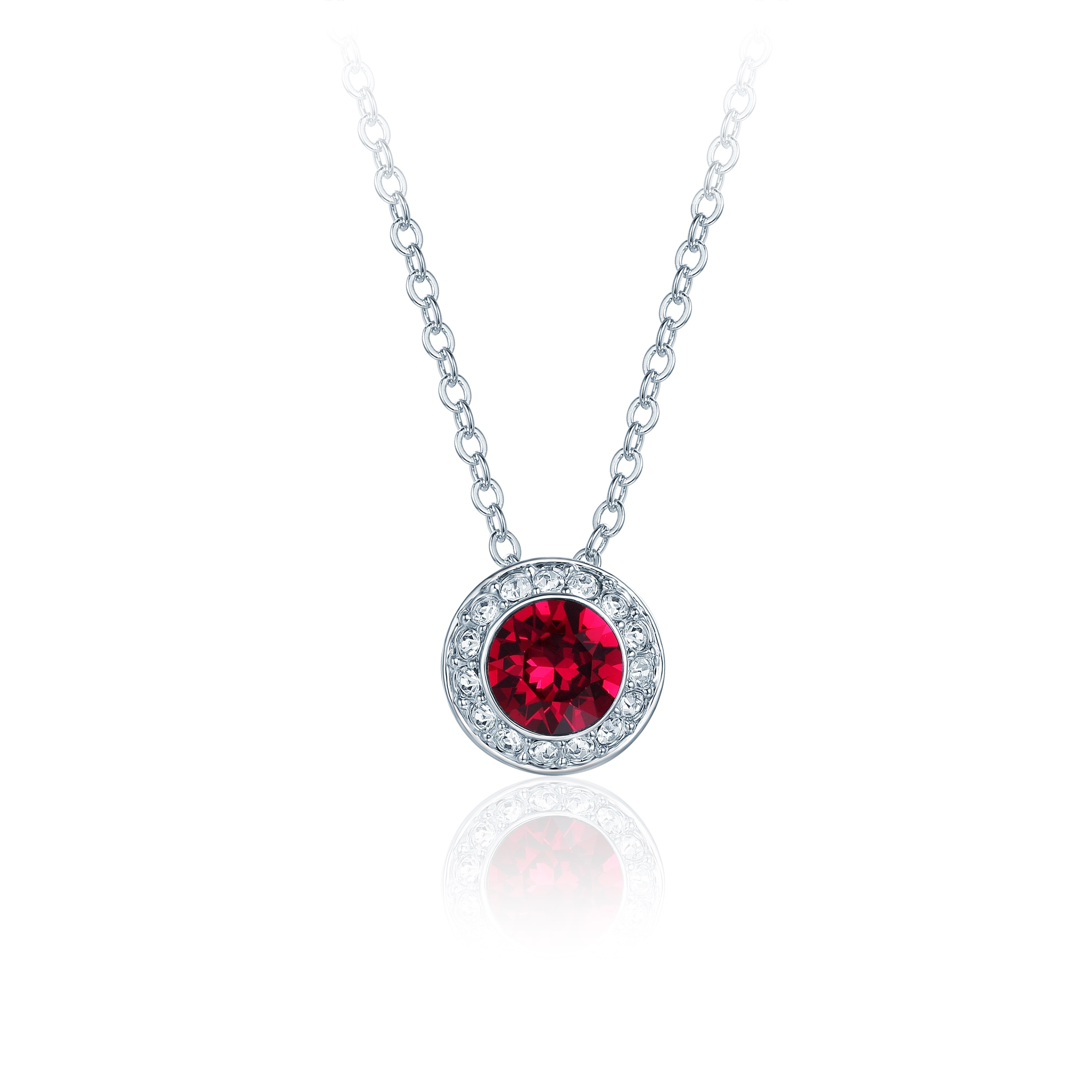 necklace crystal media red siam bridal teardrop jewelry bridesmaid ruby swarovski pendant