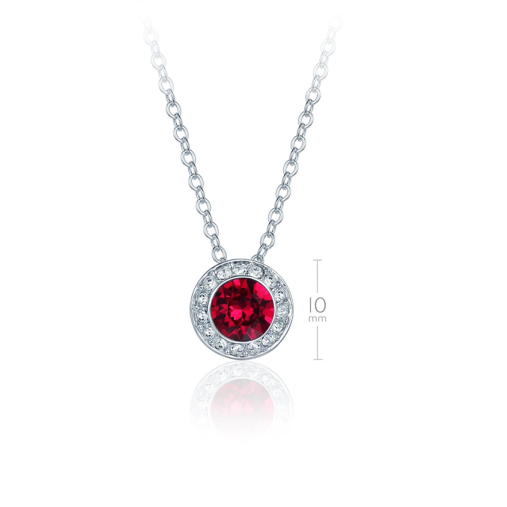 ef0c5f091 Angelic Pendant Necklace with Ruby Red Swarovski Crystals Bride Wedding  MYJS WGP