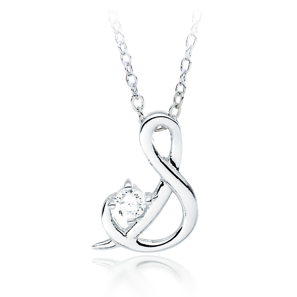 Letter s name initial necklace cubic zirconia alphabet pendant wg letter s name initial necklace cubic zirconia alphabet pendant wg rhodium plated mozeypictures Image collections