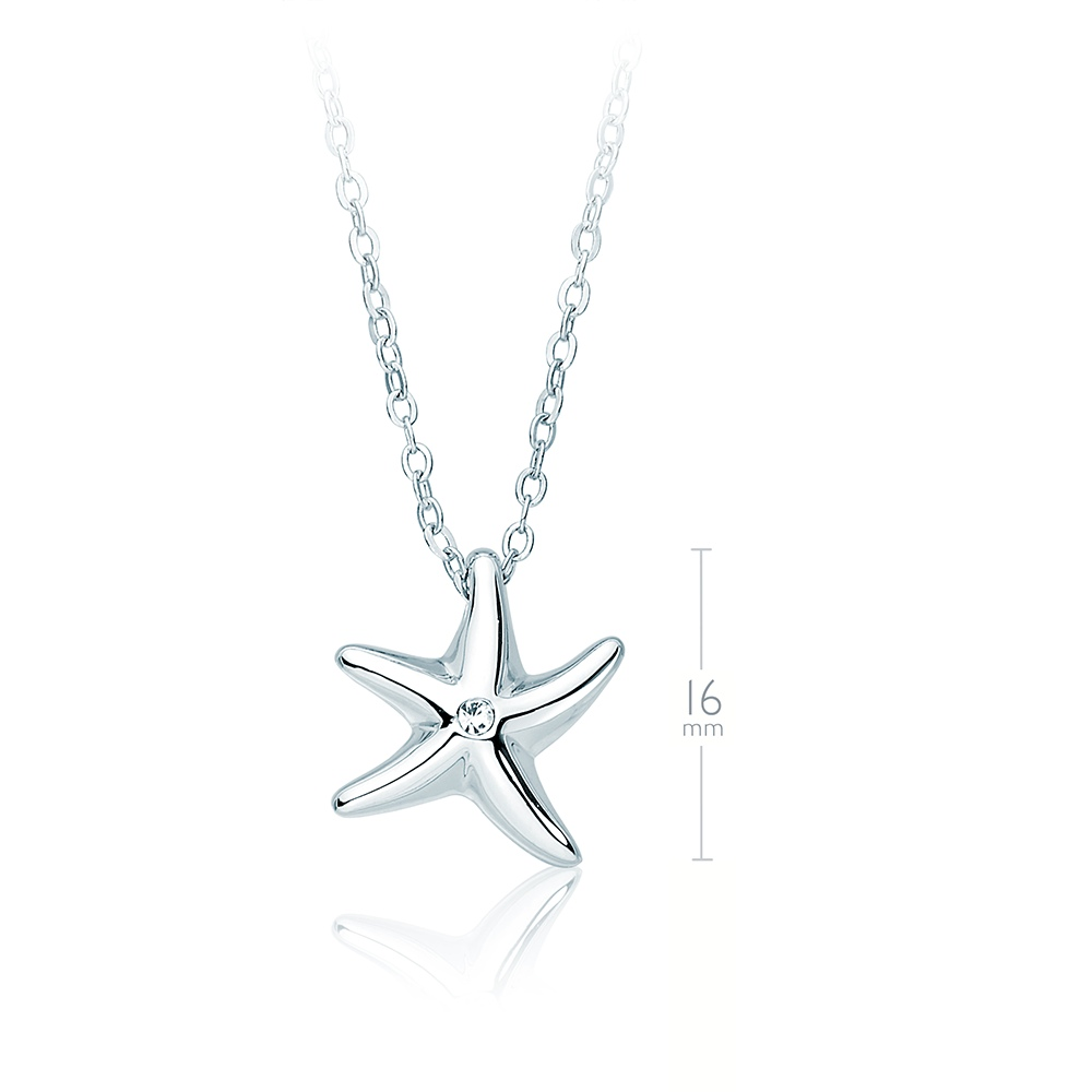 Myjs starfish necklace pendant with swarovski crystals wgp lucky myjs starfish necklace pendant with swarovski crystals wgp lucky nautical aloadofball Image collections