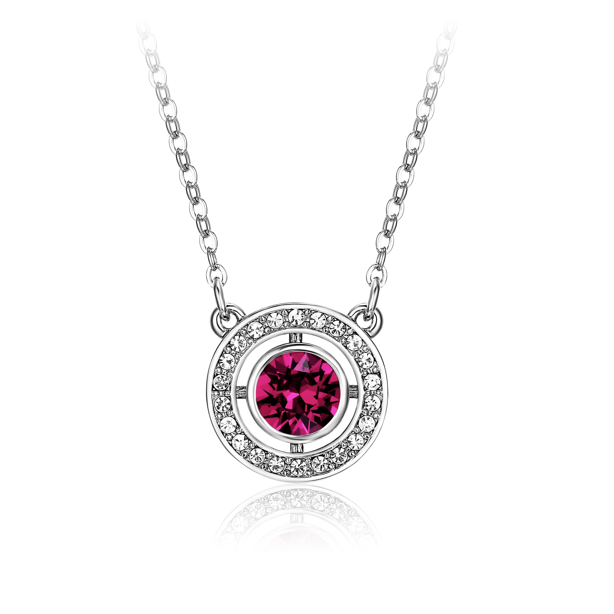 a08281eaa8fb Forever Birthstone Pendant Necklace with Amethyst Swarovski Crystal MYJS WGP