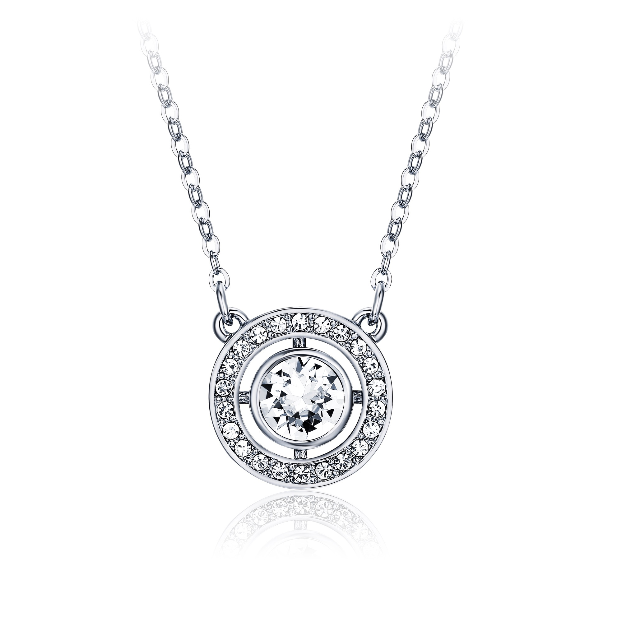 sold macy crystal women in necklace at normal tone gallery silvernight pendant product swarovski silver metallic jewelry s previously lyst