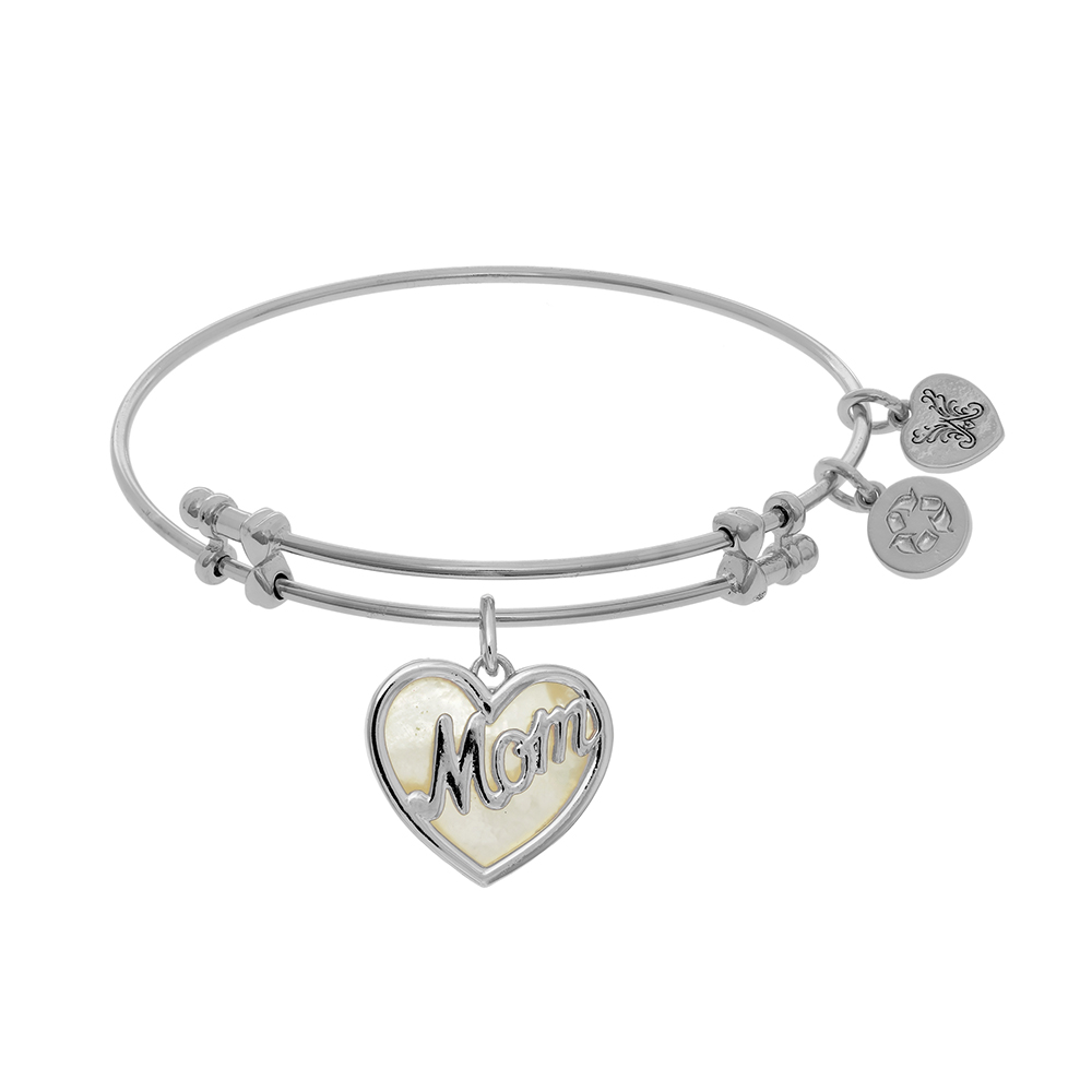 mother jewelry adjustable daughter bangles amazon bracelet com dp charm sterling friends forever bangle silver mom
