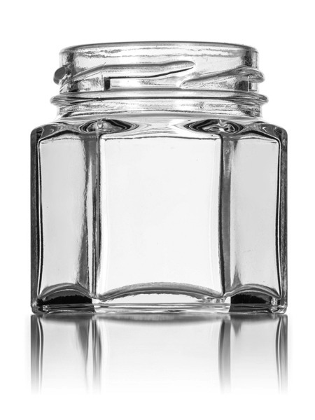 24 hexagon glass jars with lids for candles honey etc 112 oz 15 oz hex