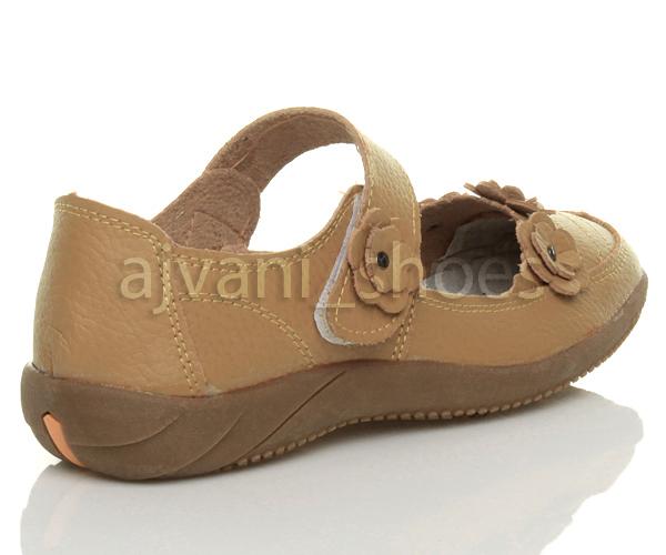 ca3b91165bab4 Mujer tacón bajo plano para caminar andar velcro mercedita zapatos ...