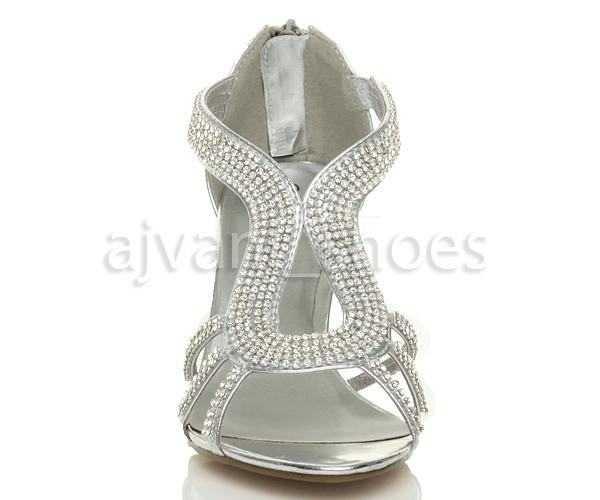 Mujeres-tacon-alto-tiras-strass-boda-elegante-paseo-sandalias-zapatos-talla