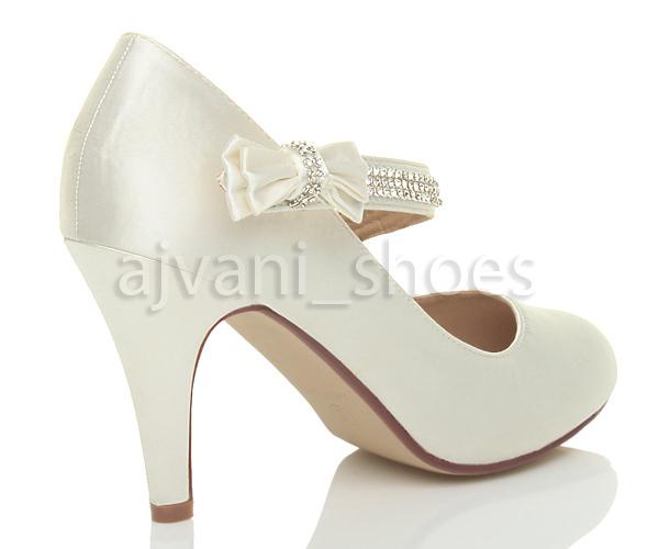 Mujer-tira-lazo-strass-boda-merceditas-tacon-alto-zapatos-salon-escarpines-talla