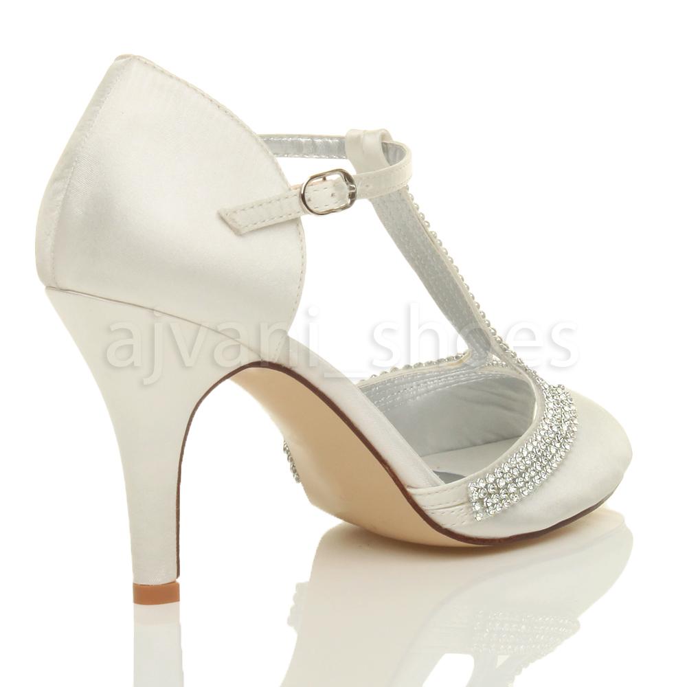 Mujeres-Tacon-Alto-Hebilla-Nupcial-Merceditas-Peep-Toes-Sandalias-Zapatos-Numero