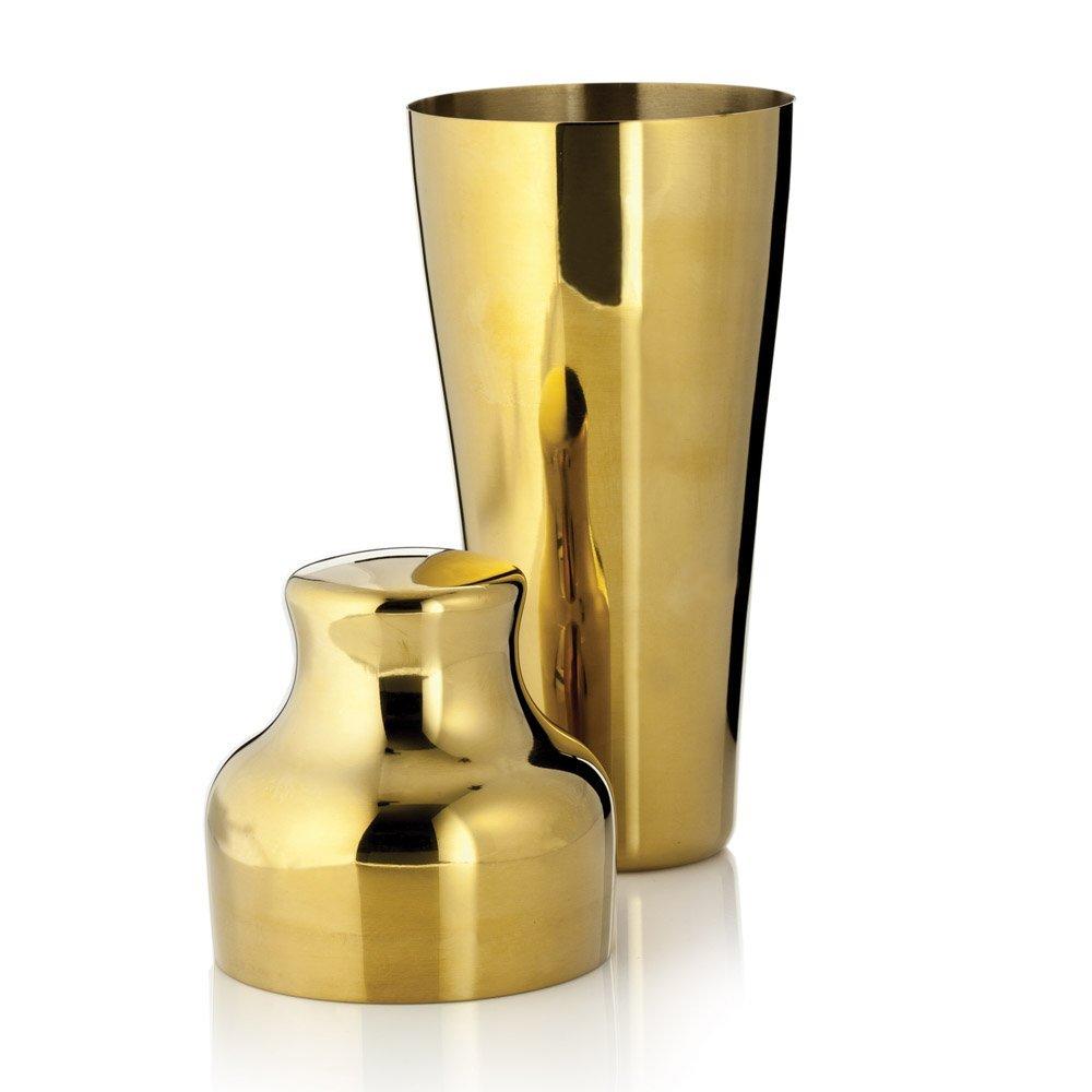 Viski Stainless Steel Traditional 25 oz Cocktail Drink Shaker, Gold Plated | eBay