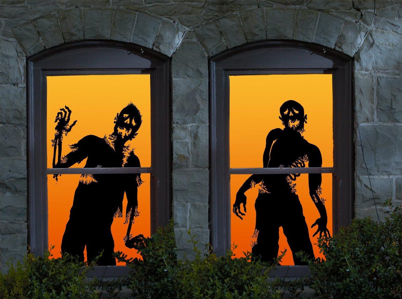 Halloween Window Decorations: Wowindow Posters Ghoulies Silhouettes Halloween Window