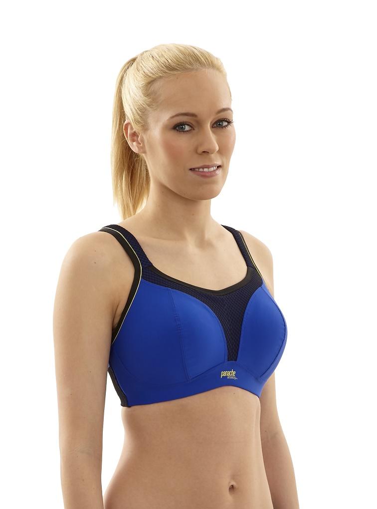 Panache Women/'s 7341 Cobalt Wirefree Sports Bra NWT Large Sizes