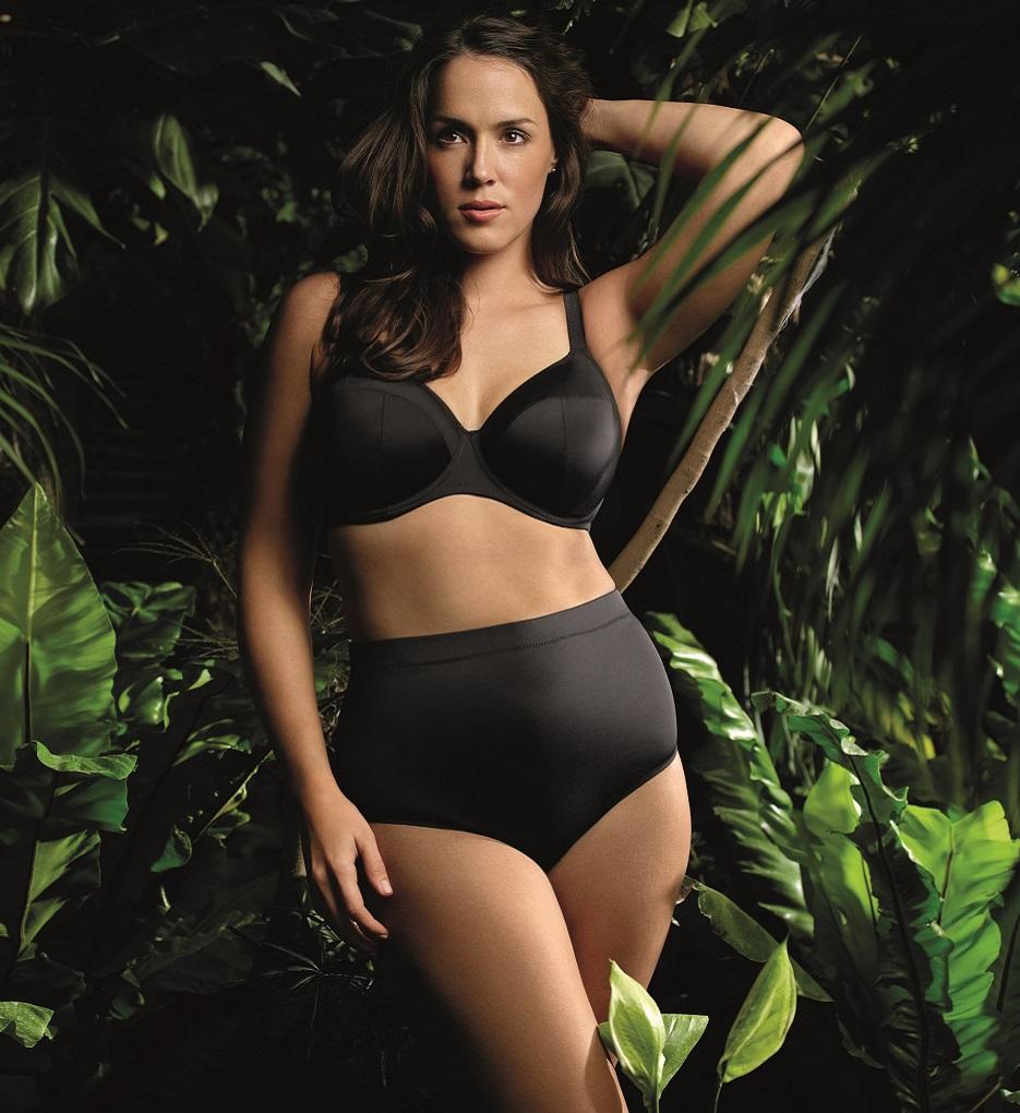 157bfa0878 Elomi Women s Essentials ES7500 Black UW Bikini Swim Bra NWT Large Cup Sizes