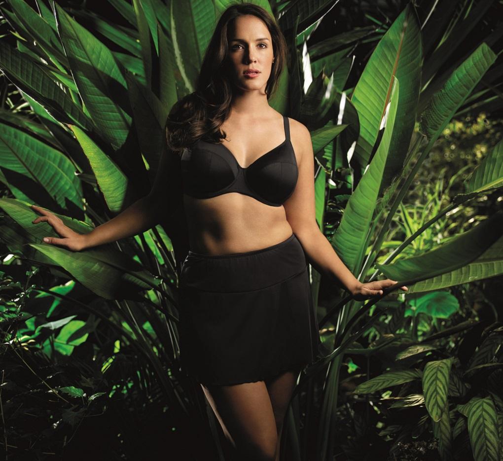 eba92052e5 Elomi Women s Essentials ES7500 Black UW Bikini Swim Bra NWT Large Cup Sizes