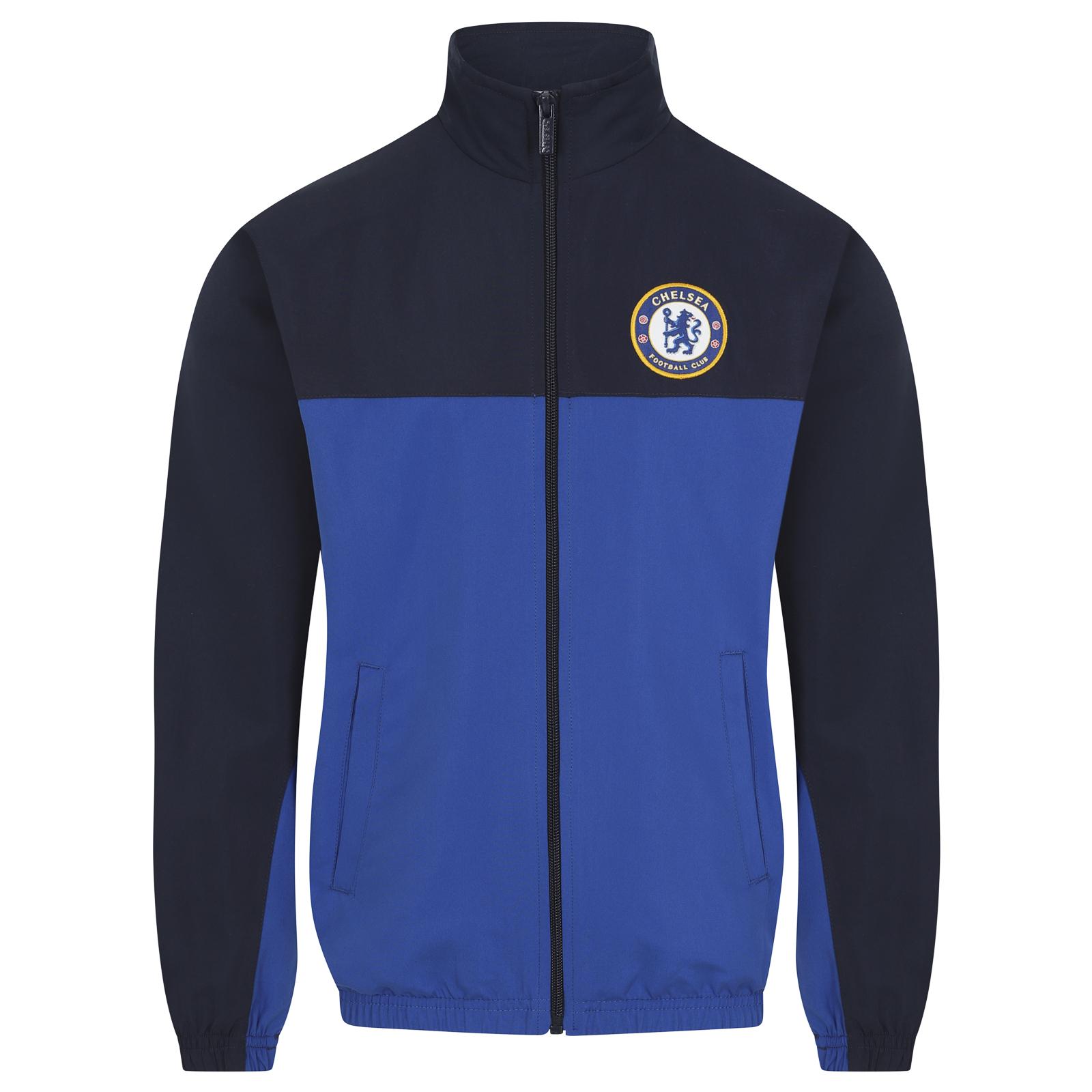 Chelsea Football Club Official Soccer Gift Boys Jacket /& Pants Tracksuit Set