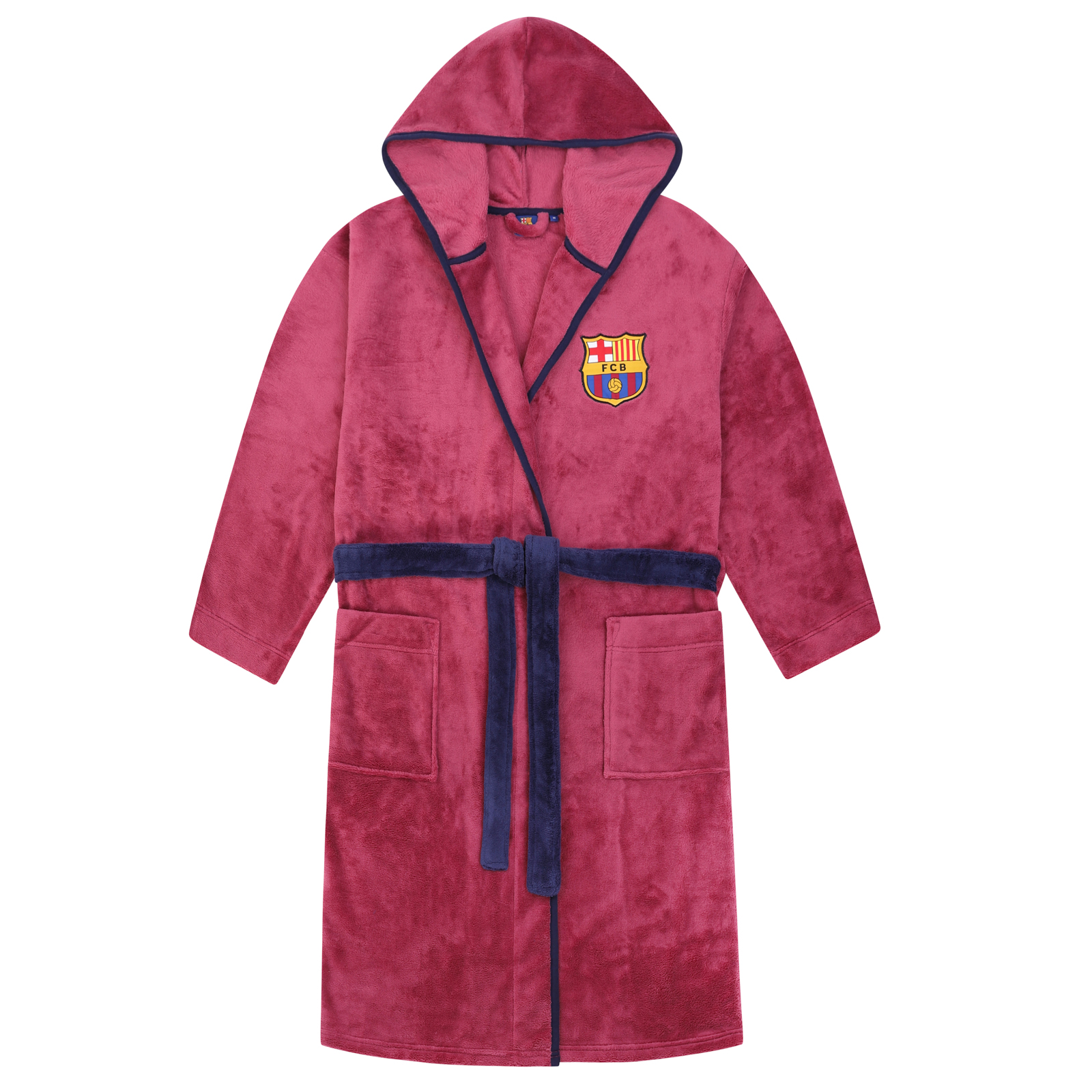 Tottenham Hotspur FC Official Gift Mens Hooded Fleece Dressing Gown Robe